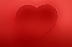 Red paper hearts Stock Images