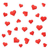 Red paper hearts origami, Stock Image