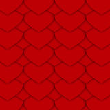 Red Paper Hearts Pattern. Dark Red Pattern Made of Paper Like Hearts. Can be Used as an Template, Book Cover in Web Design. Vector EPS 10.r Royalty Free Stock Photos