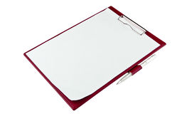 Red paper holder Stock Photos