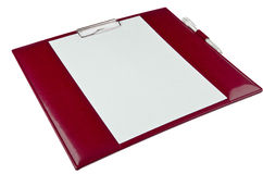 Red paper holder Royalty Free Stock Photo