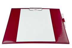 Red paper holder Royalty Free Stock Photos