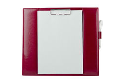 Red paper holder Stock Images