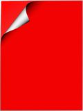 Red paper illustration. Illustration of sheets of red paper with corner curling over Royalty Free Stock Image