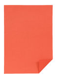 Red paper isolated on white Royalty Free Stock Photo
