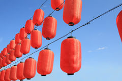 Red paper lanterns Royalty Free Stock Photo