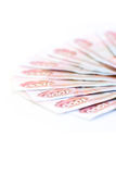 Red paper money Royalty Free Stock Images