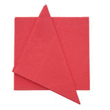 Red paper nakins, serviettes isolated on white background. Royalty Free Stock Photography