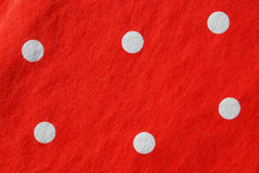 Red paper napkin with white polka dots Stock Image