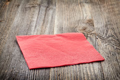 Red paper napkin Royalty Free Stock Image
