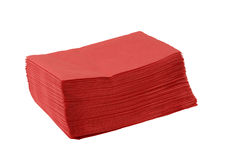 Red paper napkins Royalty Free Stock Images