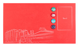 Red paper note Royalty Free Stock Image