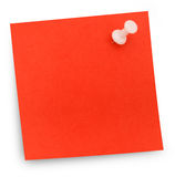 Red paper note pinned Royalty Free Stock Photo