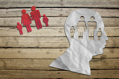 Red paper people symbols Royalty Free Stock Photography