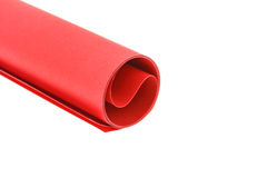 Red paper roll Royalty Free Stock Photography