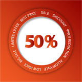Red paper sale tag Royalty Free Stock Photos