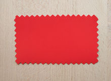 Red paper sample Stock Image