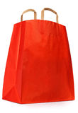 Red paper shopping bag. Stock Photo