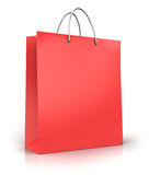 Red paper shopping bag Stock Images