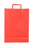 Red paper shopping bag isolated Royalty Free Stock Images