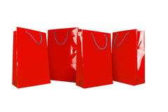 Red Paper Shopping Bags Royalty Free Stock Image