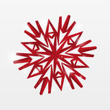 Red paper snowflake Royalty Free Stock Images