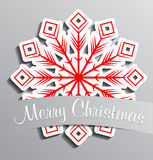 Red paper snowflake Stock Images