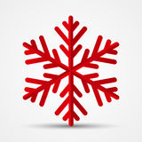 Red paper snowflake Royalty Free Stock Image