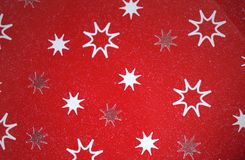 Red paper with stars Stock Image