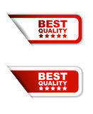 Red  paper sticker best quality (two variant) Royalty Free Stock Photos