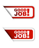Red  paper sticker good job two variant Stock Photography
