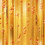 Red paper streamers seamless Stock Photos