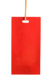 Red paper tag isolated Royalty Free Stock Photography