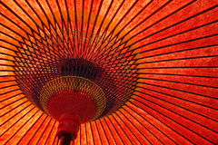 Red paper umbrella Royalty Free Stock Photography