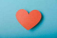 Red paper Valentines Day heart Stock Photo