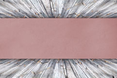 Red Paper on wood Royalty Free Stock Photos