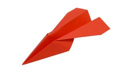 Red_paperplane_2 Images stock