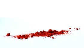 Red paprika. Spices over white background royalty free stock photography