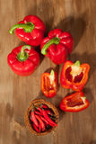 Red paprika and chili peppers Royalty Free Stock Image