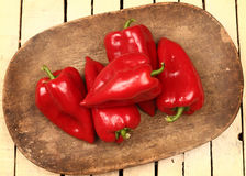 Red paprika close Stock Photos