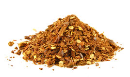 Red paprika flakes stock image