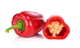 Red paprika isolated on white background Stock Photography