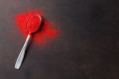 Red paprika powder spice Royalty Free Stock Images