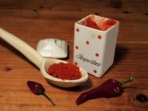 Red paprika powder Royalty Free Stock Photos