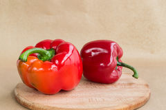 Red paprika. On the table royalty free stock photos