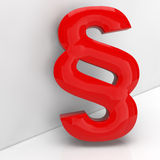 Red paragraph symbol in 3D Stock Image