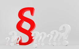 Red paragraph symbol between question marks Stock Photography