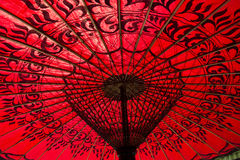 Red parasol Royalty Free Stock Photo