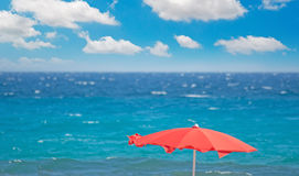 Red parasol Stock Image