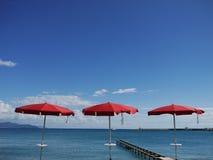 Red parasols Royalty Free Stock Image